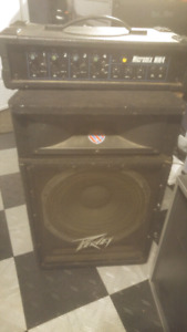Peavey speaker and 150w 4 channel mixer.