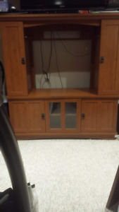 Sauder Wall Unit with Tons of Storage