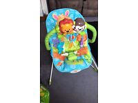 Vibrating baby bouncy chair!
