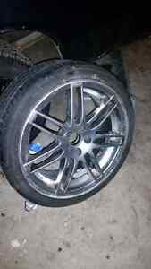 19 inch rims and tires.
