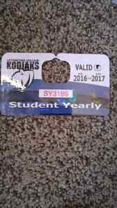 Valid parking pass for Lethbridge College