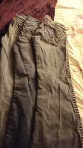 3 pair of silver jeans