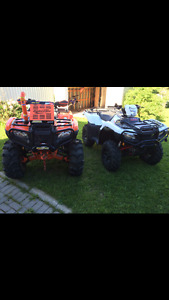 Package deal two Honda atvs mint his and hers & travel trailer