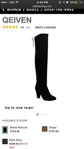 Spring over the knee boots