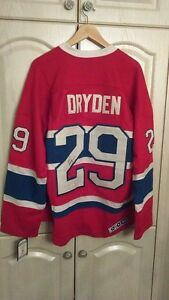 Ken Dryden montreal canadieans signed jersey w/coa