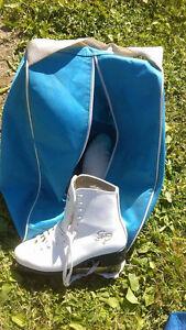 skates and bag