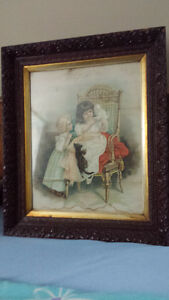 Antique frames and pictures