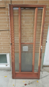 Brown Aluminium Storm Door For Sale!