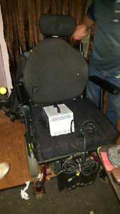 Quickie Electric Wheelchair with Two Chargers