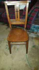 ANTIQUE/ VINTAGE CROSSBACK CHURCH CHAIRS