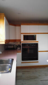 White kitchen cabinets  GREAT FOR COUNTRY PLACE OR GARAGE!