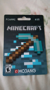 $35 Minecraft card Pc/Mac