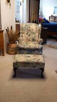 Wing chair and ottoman!