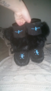 Hand-made moccasins