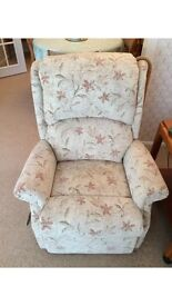 Riser recliner lift and tilt arm chair (two available) delivered and fitted