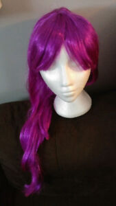 Halloween adult long purple wig, fairy, princess