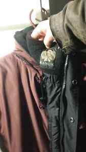 Manteau d'hiver tout intemperie, bourgogne