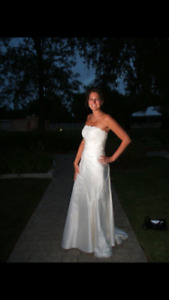 Italian made Pronovias fitted wedding gown