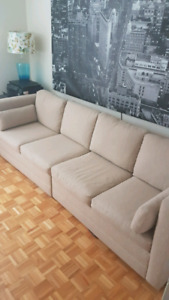 Custom Made Tan Couch - Pull Out Hideaway Bed