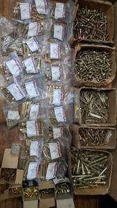 HUGE LOT OF BOLTS    -   Yellow Zinc & Brass