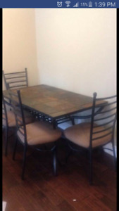 Kitchen table and chairs $150 obo