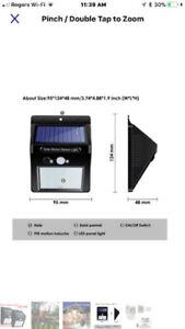 3 SOLAR LIGHTS FOR OUTSIDE DOOR- SHINES BRIGHT-$10 EACH