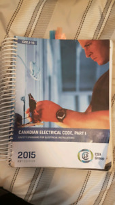 2015 Canadian electrical code book.