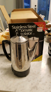 Coffee Maker - Stainless Steel Automatic Percolator