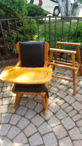 Hardwood High Chair Converts to Rocker