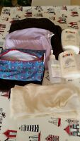 Used cloth diaper set. Condition issues  but still very usable