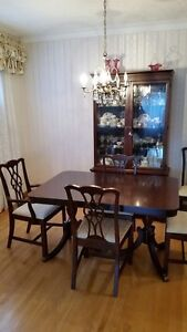Knechtel Dining Table and China Cabinet (NEW LOWER PRICE)