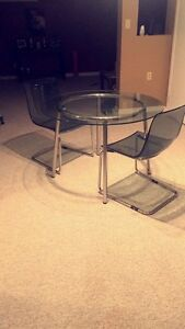 Table & 2 Chairs Strathcona County Edmonton Area image 1