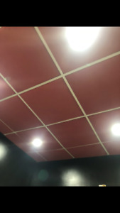 Drop Ceiling Tiles (RED Acoustic Foam)(sound proof)