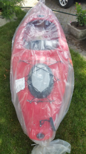 KAYAK, PADDLE AND LIFE PRESERVER NEW PAID OVER $700 SELL $475.00
