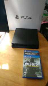 Brad new ps4 slim with 3 games