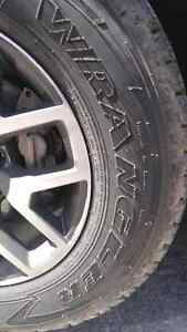 New Goodyear Wrangler 255/65R17 tires (x4)