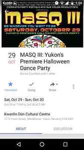 Looking for MASQ Halloween party tickets