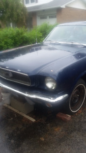 CLASSIC 1966 MUSTANG COUPE DARK BLUE METALLIC PAINT