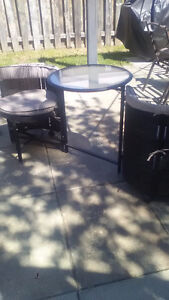 Compact deck table