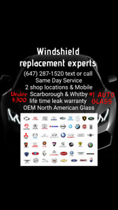 Windshield Experts 2 certified shops with lifetime warranty OEM