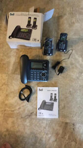 Bell DECT 6.0 - 2 Handset Cordless/Corded Connect to Cell Answer