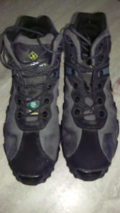Leather steel toe work boots (size 10)