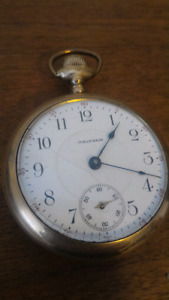 Gold Filled 17 Jewel Antique Pocket Watch Working Condition