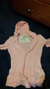 Abercrombie and fitch pink hooded shirt