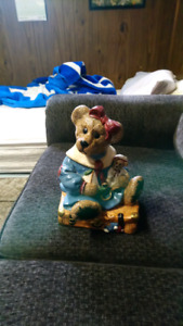 Bear cookie jar Bailey bear on suitcase cookie jar