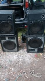 X4 dj speakers