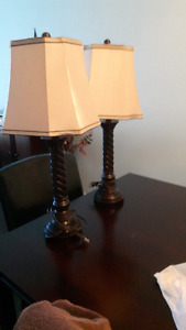 2 lovely bedroom lamps and New ceiling fan