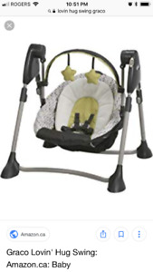 Infant adjustable/compact swing