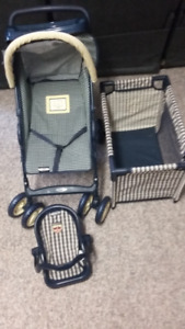 Graco -Tolly Tots. - Doll stroller, playpen and carrier.