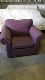 Arm chair purple
